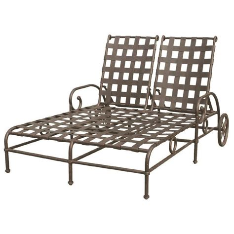 darlee malibu patio chaise lounge in antique bronze