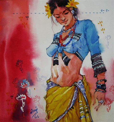 mind blowing indian woman paintings  indian artist