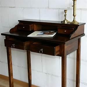 Schreibtisch Aus Holz : massivholz sekret r schreibtisch mit 4 schubladen holz ~ Whattoseeinmadrid.com Haus und Dekorationen