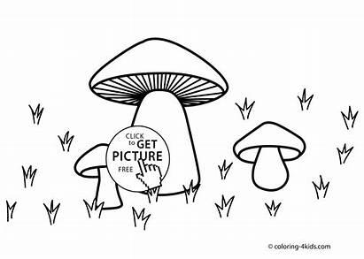 Nature Coloring Mushroom Printable Pages Sheets Printables