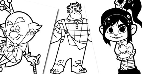 wreck  ralph coloring pages disneyclipscom
