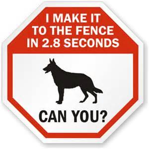 Warning Beware of Dog Signs