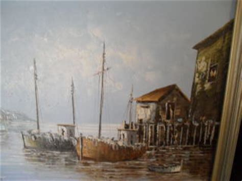 Fishing Boats In Ireland Done Deal by Oils Pretty Harbour Scene Original Oil By Well Known