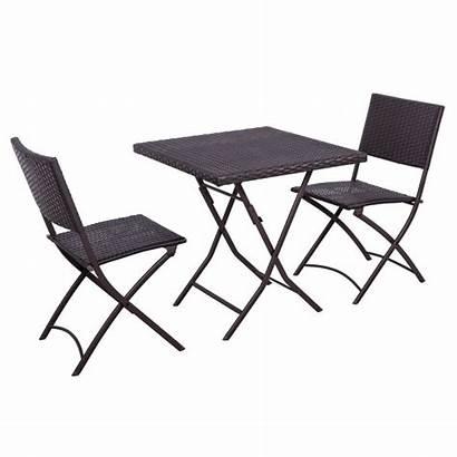Bistro Folding Table Wicker Rattan Chairs Furniture