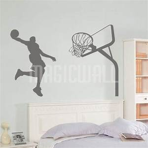 Wall stickers slam basketball sport wall decals canada for Basketball wall decals