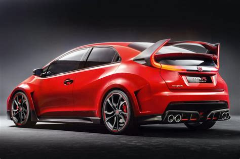 Type R by Honda Civic Type R 2015 Rear