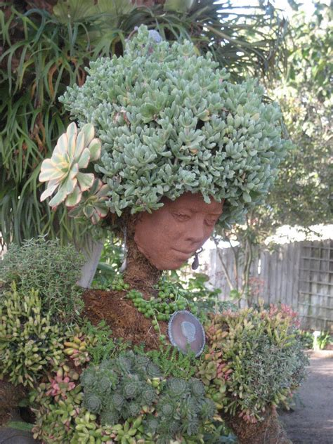 Want This Terra Cotta Head Shaped Planter With