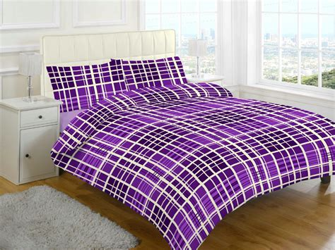 evan check brushed cotton flannelette thermal duvet cover