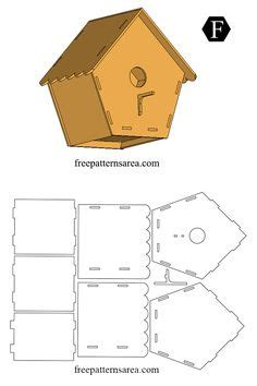 birdhouse template  wood  clay gingerbread house