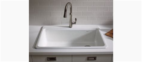 riverby top mount kitchen sink with accessories k 5871