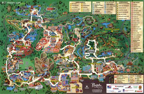 Busch Gardens Ta Directions by Maps Bgt History Busch Gardens Ta History