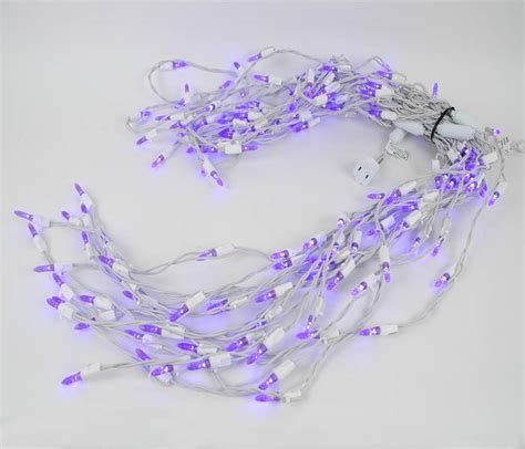 purple led icicle lights on white wire novelty lights inc