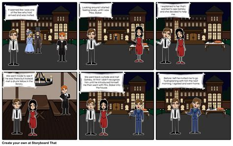 great gatsby chapter 3 storyboard by esang625