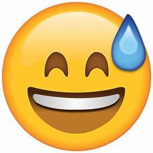 Download Smiling with Sweat Emoji | Emoji Island