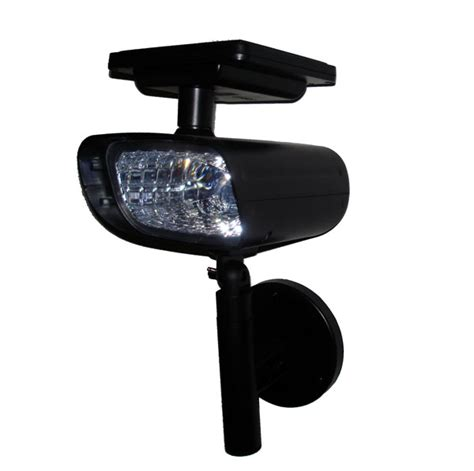 black solar spotlight wall mount light