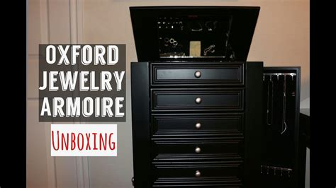 Oxford Jewelry Armoire by Home Decorators Oxford Jewelry Armoire Unboxing