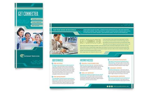 internet service provider brochure template design