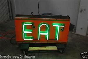 Vintage Neon Eat Light for Diner Gas Station Texaco