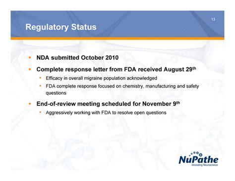fda complete response letter exhibit 99 1 82612