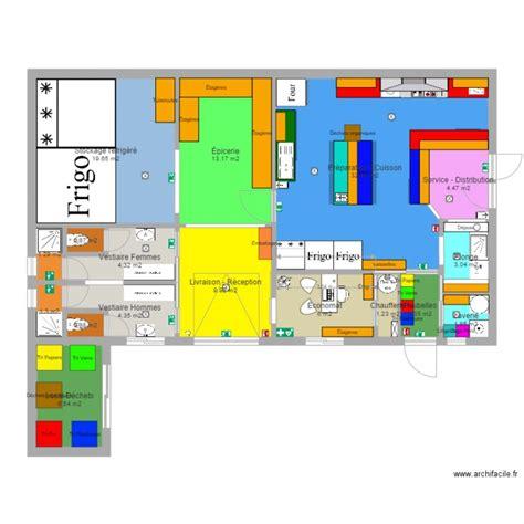 dessiner un plan de cuisine plan cuisine professionnelle plan 17 pièces 114 m2