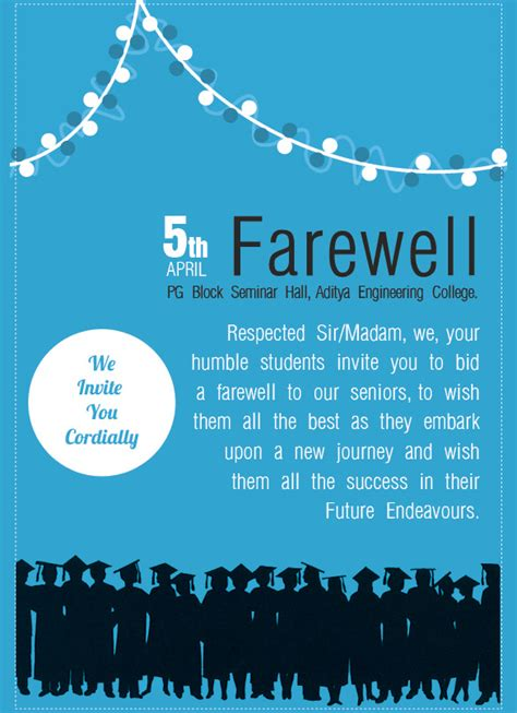 farewell invitation template   documents