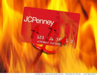 From the credit card, i mean one can shop at a time and pay later you can make a jcpenney credit card payment by calling the customer service executive. Credit cards from hell - JCPenney Rewards Credit Card (8) - CNNMoney