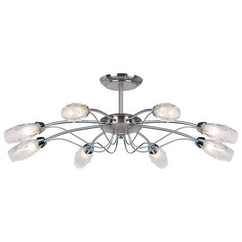 endon 9009 8sc modern ceiling light endon 8 light chrome