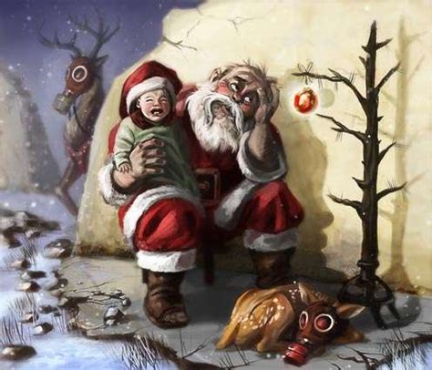 strange depictions  santa claus