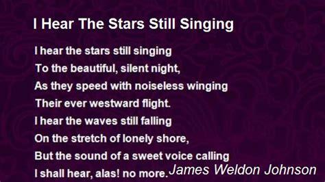 hear  stars  singing poem  james weldon