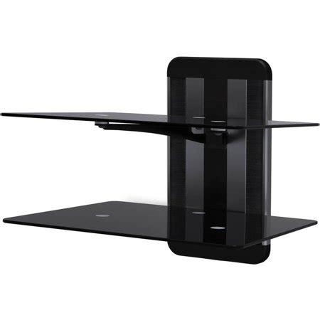 tv wall mount with shelf walmart avf zms1200 a any wall av glass shelving 2 shelves
