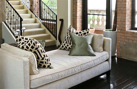 velvet bench transitional living room studio ten