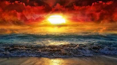 Sunset Desktop Beach Widescreen Wallpapers Backgrounds Wallpapersafari