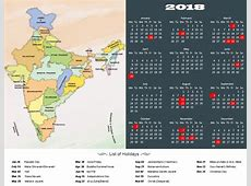 Calendar 2018 With Indian Holidays happyeasterfromcom