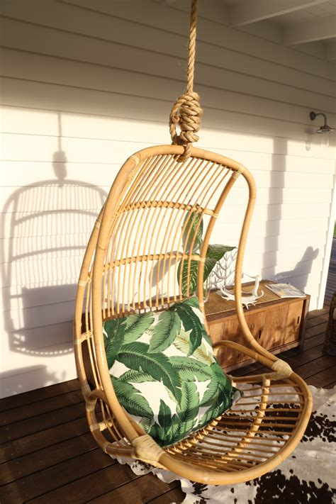 adorable rattan swingasan chair design hanging with rope