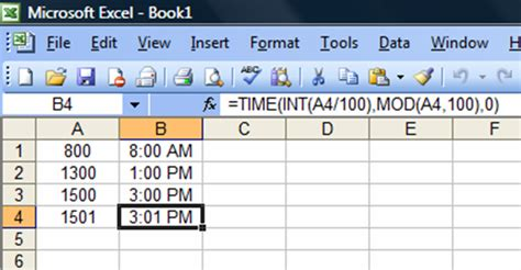 How To Input Military Time Into Excel