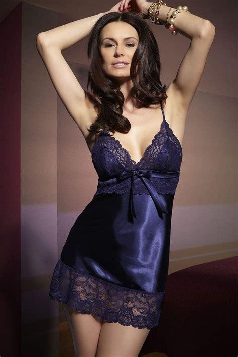 blue satin chemise boudoir satin and blue and