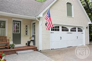 Lowe39s front yard makeover portland maine for Carriage style garage doors lowes