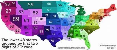 Zip Code Digit Digits Codes Map States