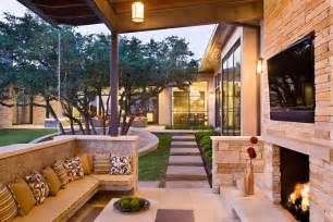 outdoor livingroom family home with outdoor living room and pool modern house designs