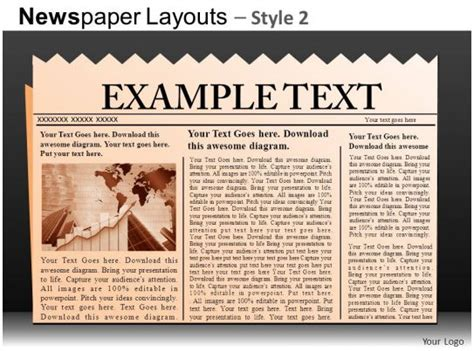 newspaper layouts style  powerpoint   db powerpoint  template