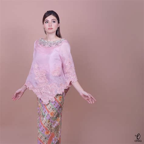 kebaya indonesia modern high    lace brokat