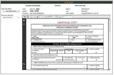 us army promotion point worksheet checks worksheet