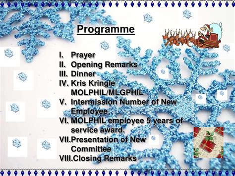 cloaing prayer for christmas progeamme mol philippines inc 2010