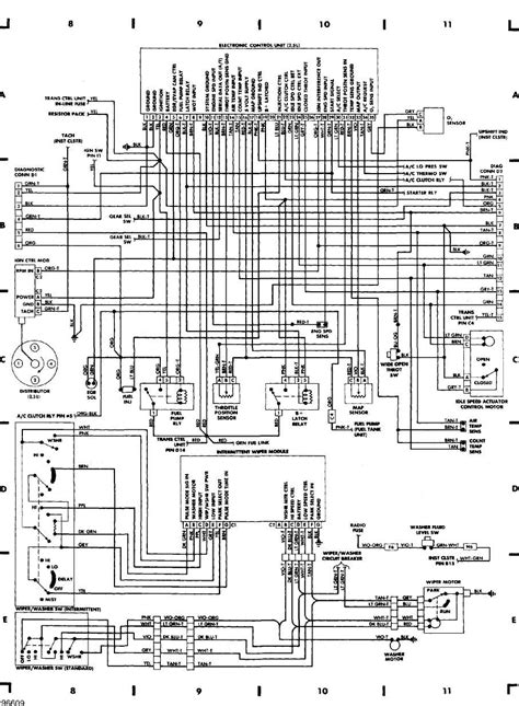 1998 Jeep Wiring Harnes Diagram by 1989 Jeep Wrangler Exhaust System Diagram