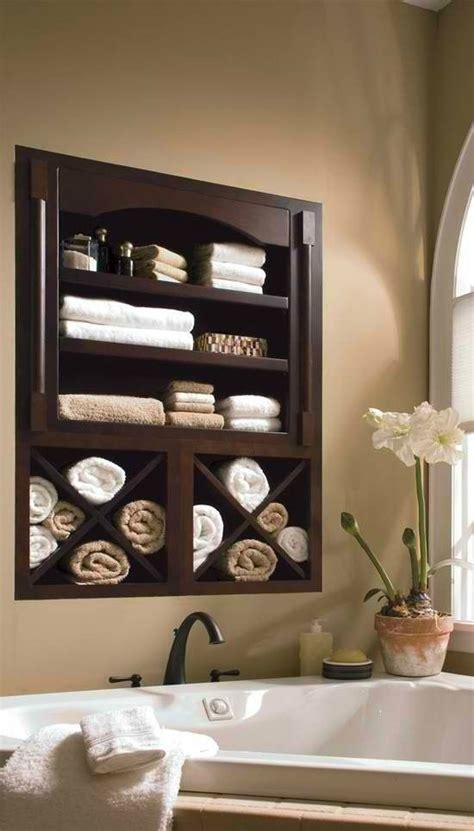 built  bathroom towel shelf   home pinterest