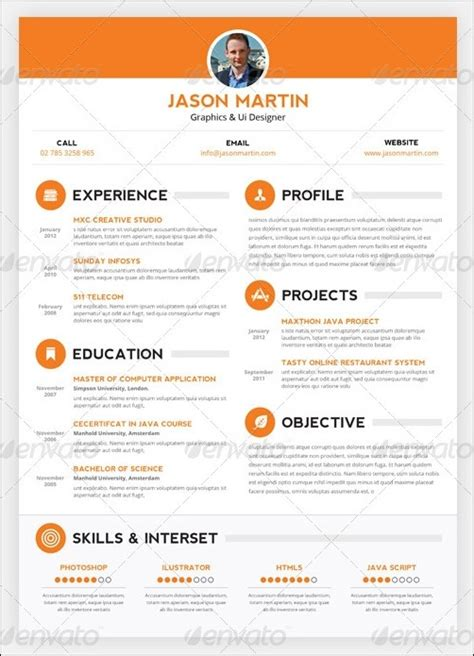 Creative Resume Templates by 30 Amazing Resume Psd Template Showcase Streetsmash