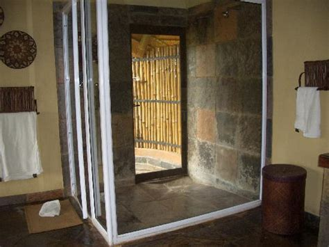 door spa locations inside shower and door to outside shower picture of