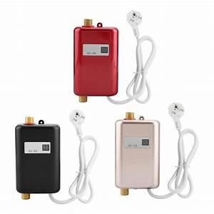 220v 3400w Mini Electric Tankless Instant Hot Water Heater Bathroom Kitchen Washing Eu Plug