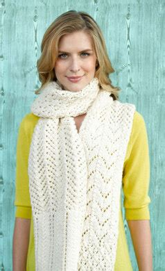 barbizon lace scarf  lion brand alpine wool ad