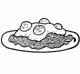 Coloring Spaghetti Pasta Printable Getcolorings sketch template